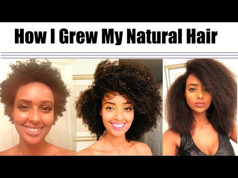 How To Grow Natural Hair Long, Fast, Thick and Healthy!