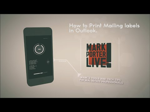 How to Print Mailing Labels in Outlook