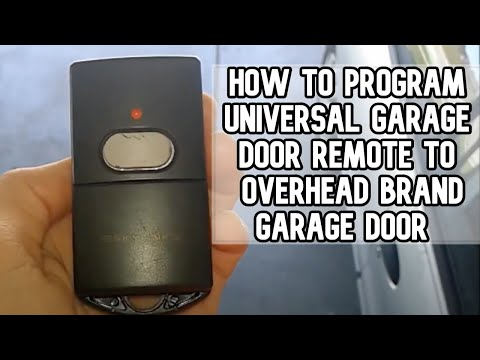 How to program universal garage door remote with Overhead Door opener DIY video #diy #garage