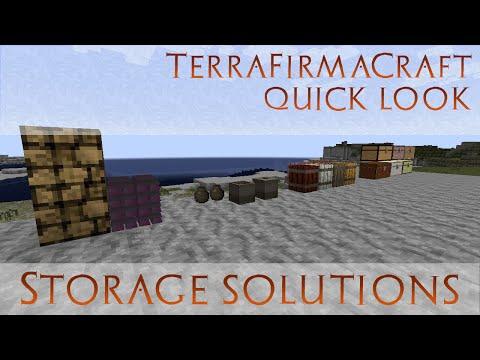 TerraFirmaCraft Quick Look - Storage - Vessels, Barrels, Log Piles, Chests  [build 79]