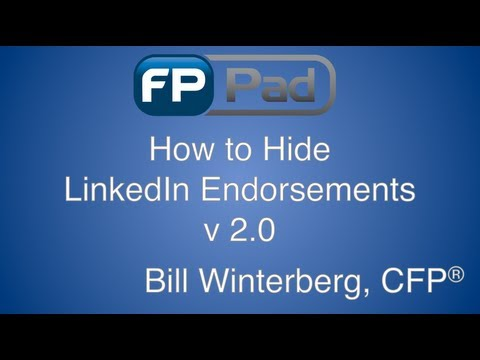 How to Hide LinkedIn Endorsements in the New LinkedIn Profile