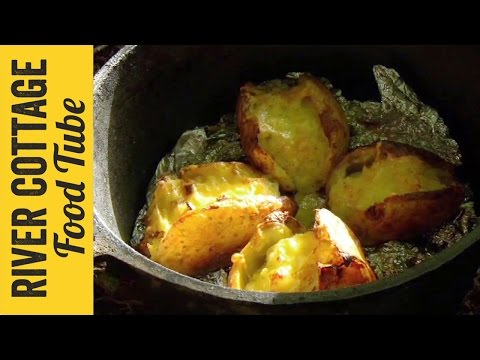 Loaded Baked Potatoes with Campfire Beans   Hugh Fearnley-Whittingstall