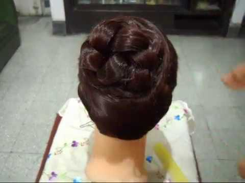 A Beautiful Bun Hairstyle for Parties, Weddings and other Functions.