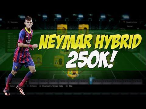 FIFA 14 | Insane 250k Neymar Hybrid Team | Squad Builder #24