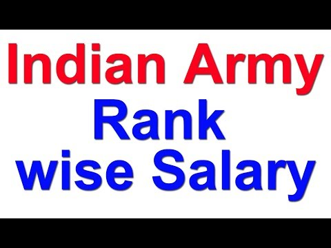 Indian Army Rank wise Salary | Grade Pay | MSP | 7th pay Commission