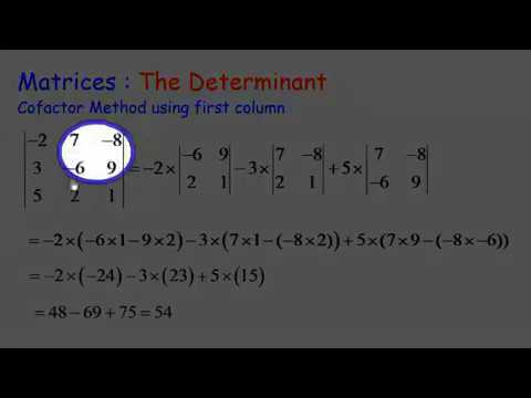 Matrices: Determinants