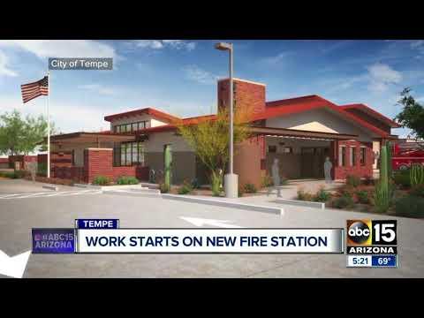 Tempe fire station building underway