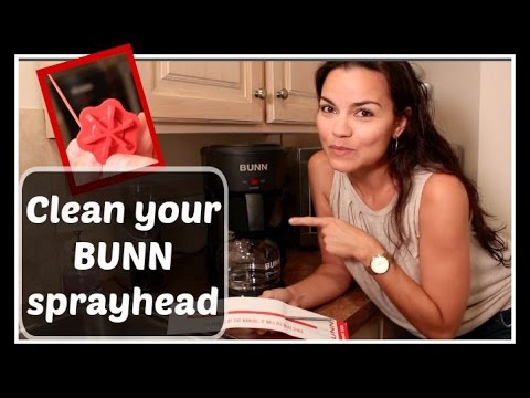 HOW TO:  Clean BUNN Speed Brew coffee maker sprayhead tube / delime