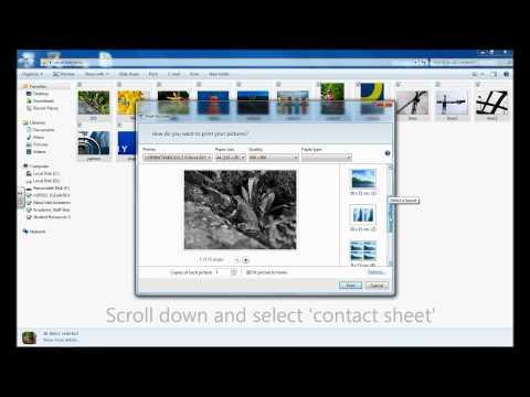 Making contact sheets using windows explorer