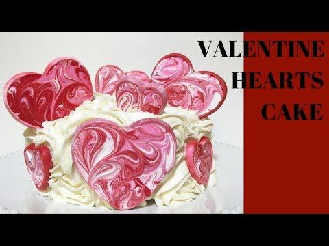 VALENTINE  HEARTS CAKE