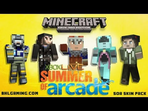 How To Get a Free Minecraft Skin | NEW Minecraft Xbox 360 Free DLC | Summer of Arcade