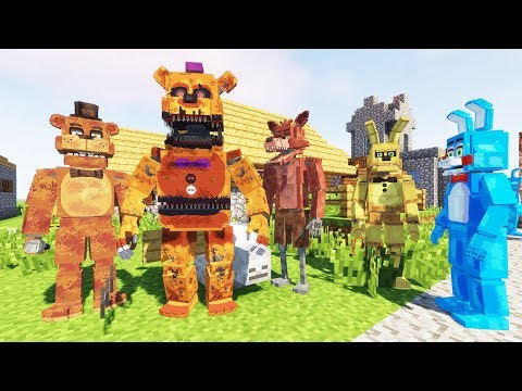 THE ANIMATRONICS FIND A NEW PLACE TO LIVE IN MINECRAFT! (RedHatter FNAF Minecraft)