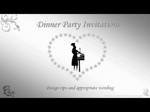 Dinner Party Invitation Wording