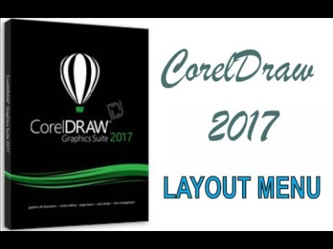 COREL DRAW 2017 USING LAYOUT MENU HINDI URDU PART 44