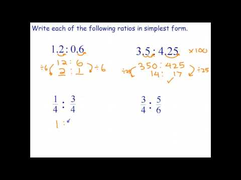 Simplifying Ratios Involving Decimals and Fractions