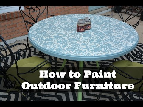 How to Paint Outdoor Furniture: DIY Tutorial - Thrift Diving
