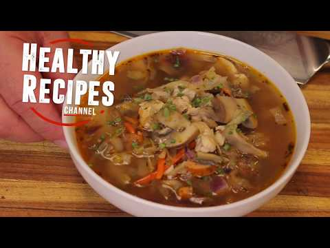 Keto chicken and sausage vegetable soup - soup recipes - ketogenic - low carb - how to make soup