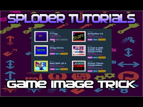 How to Get the Title Level as the Games Picture (Sploder Tutorial)
