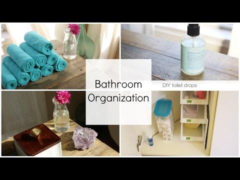 Easy-to-Clean, Relaxing Bathroom Organization