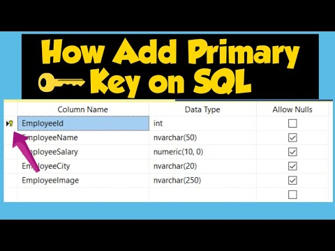 Tuto :SQL server  Primary key Auto Increment VB | C# apps