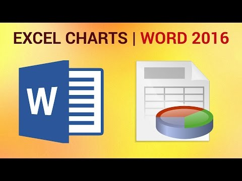 How to Insert Excel Charts into Word 2016