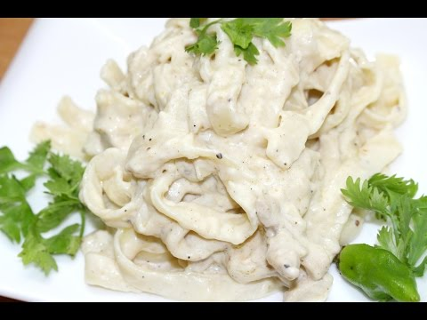 CHICKEN FETTUCCINE ALFREDO RECIPE *Food In 5 Minutes