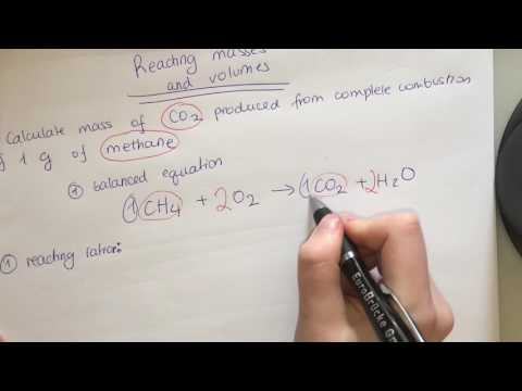 Reacting masses and volumes calculations. How to find mass and number of moles from equations?