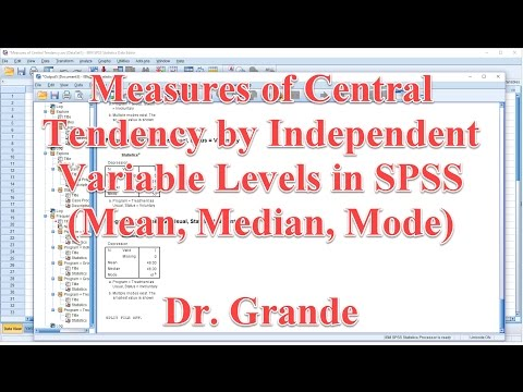 Measures of Central Tendency by Independent Variable Levels in SPSS (Mean, Median, Mode)