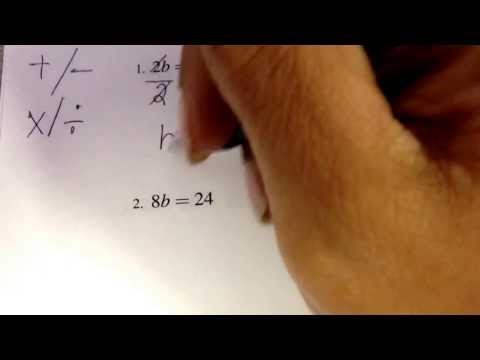 Solving for the variable, one step equation