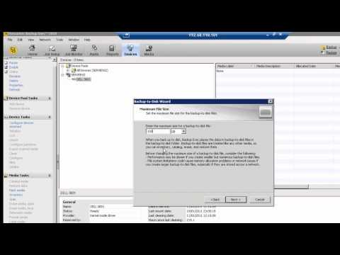 How to configure Backup To Disk in Symantec Backup Exec 2010