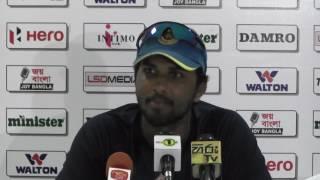 Thilan Samaraweera & Dinesh Chandimal address media after the 2nd Day of 2nd Test