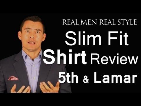 Slim Fitting Men's Dress Shirt Review - Austin's 5th & Lamar - Slim Fit Shirts