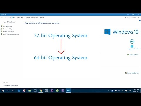 How to Upgrade 32 bit to 64 bit in Windows 7 / 8 / 10