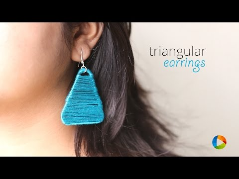 DIY: Triangular Earrings from Paper clip