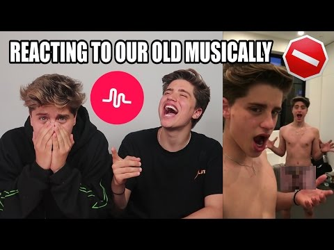 REACTING TO OUR OLD MUSICALLYS (PRIVATE)
