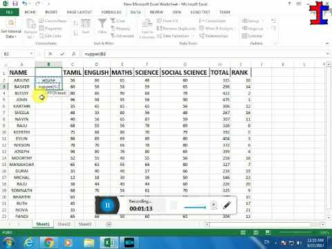 LOWER TO UPPER CASE IN EXCEL TAMIL