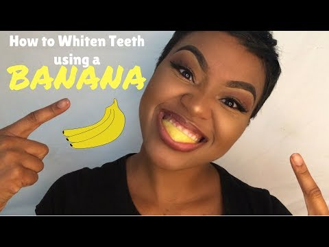 How To Whiten Teeth Using a Banana