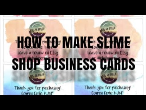 How to Make Slime Business Cards! For Slime Shop Packaging!