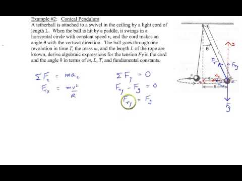 Chapter 5, Example #2 (Conical Pendulum)