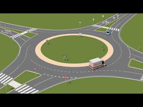 Emergency vehicles in roundabouts