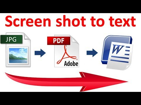 How Convert a Photo to Text | Learn how to convert a JPG into text | in Hindi