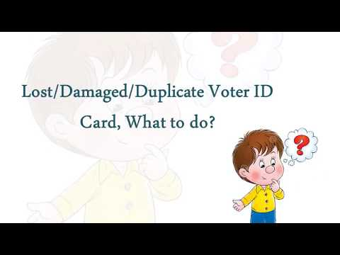 How to apply for Duplicate Voter ID card in case of Lost or Damage (Shortest Video)