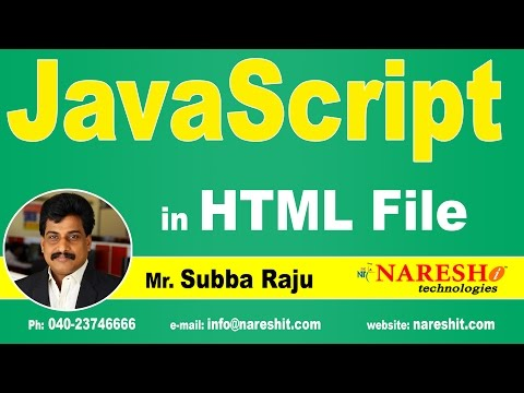 JavaScript in HTML File | JavaScript Tutorial | Mr. Subba Raju