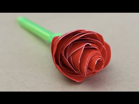 Easy craft: How to make a duct tape rose pen