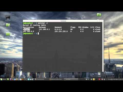 How To find your Router IP address in Linux Mint 17