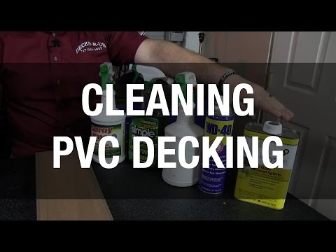 How to Clean PVC and Vinyl Decks