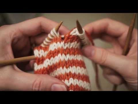 Knitting 2-Row Jogless Stripes In The Round