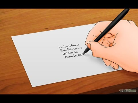 How to addressing envelopes correctly