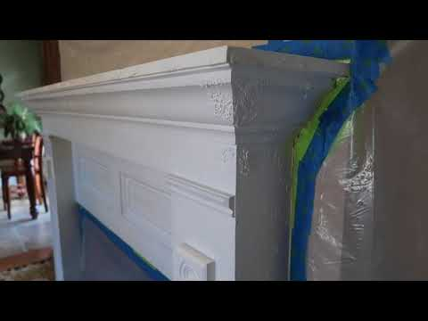 Day One Stripping Paint From Fireplace