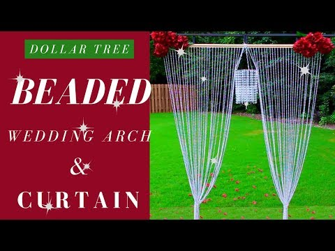 DIY BEADED CURTAIN | DOLLAR TREE  WEDDING DIY